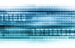 Binaire gegevensachtergrond Stock Afbeeldingen