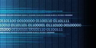 Binaire gegevensstroom, binaire aantallen, grote gegevens, informatie - dyna royalty-vrije illustratie