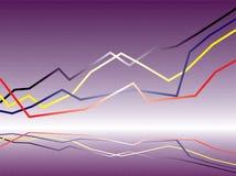 Binaire grafiek Stock Fotografie