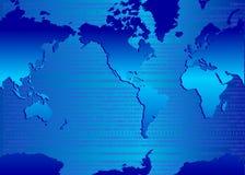 Binaire kaart Stock Fotografie