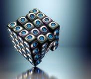 Binaire kubus Royalty-vrije Stock Afbeeldingen