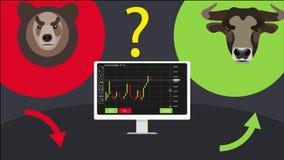 Binaire Opties Geanimeerde Video stock illustratie
