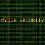 Binaire - sécurité de Cyber Images libres de droits