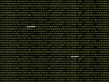 Binaire segurity als achtergrond Stock Afbeeldingen