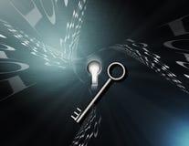 Binaire Sleutel Royalty-vrije Stock Foto's