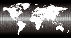 Binaire wereld Royalty-vrije Stock Foto