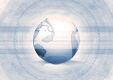 Binaire wereld royalty-vrije illustratie