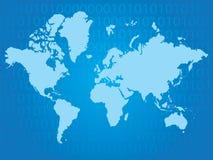 Binaire wereld Stock Afbeelding