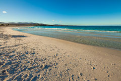 Binalong Bay Tasmania. Perfect white beach and turquoise sea. Binalong Bay is situated at the southern end of the Bay of Fires and extends to Eddystone Point in Royalty Free Stock Photo