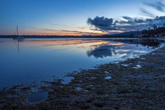 Binalong Bay at sunset, Tasmania Stock Photo