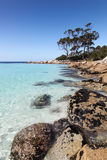 Binalong Bay - Tasmania. Binalong Bay in Tasmania is located in the Bay of Fires region on the East Coast. Beaches and rocky bays like this one are a spectacular Royalty Free Stock Images