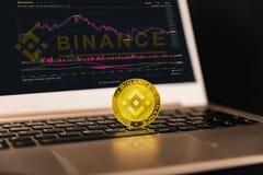 Binance è mercato dei cambi di finanza Concetto cripto del fondo di valuta fotografia stock libera da diritti