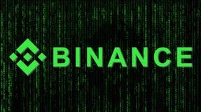 Binance валютный рынок финансов Секретная концепция предпосылки валюты стоковое изображение