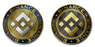 BINANCE cryptocurrency coin Stock Photography
