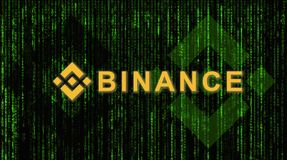 Binance is a finance exchange market. Crypto Currency background concept. Cryptocurrency BNB Binance coin royalty free stock photos