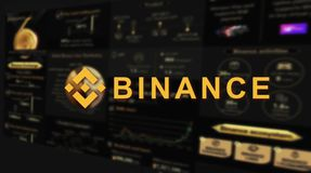 Binance is a finance exchange market. Crypto Currency background concept. Cryptocurrency BNB Binance coin stock illustration