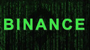 Binance ist ein Finanzdevisenmarkt Schlüsselwährungshintergrundkonzept stockbilder