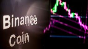 Binance monety Cryptocurrency ?eton r r obrazy royalty free