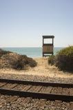 Binari del bagnino Station e ferroviario a San Clemente Fotografia Stock Libera da Diritti