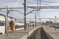 Binari del treno Fotografie Stock Libere da Diritti