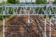 Binari ferroviari Immagine Stock