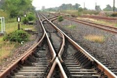 Binari ferroviari Immagine Stock Libera da Diritti