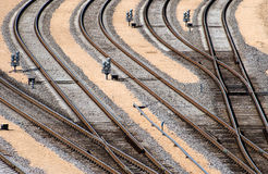 binari ferroviari Immagini Stock