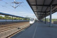 Binari ferroviari cinesi del treno veloce Fotografia Stock Libera da Diritti