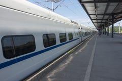 Binari ferroviari cinesi del treno veloce Immagini Stock Libere da Diritti
