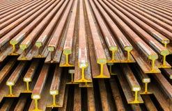 Binari ferroviari d'acciaio Immagine Stock Libera da Diritti