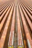 Binari ferroviari d'acciaio Fotografia Stock Libera da Diritti