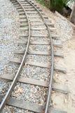 Binari ferroviari d'annata Immagini Stock