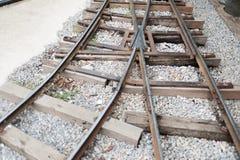 Binari ferroviari d'annata Fotografie Stock Libere da Diritti