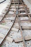 Binari ferroviari d'annata Immagini Stock Libere da Diritti