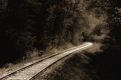 Binari ferroviari dell'annata Immagini Stock Libere da Diritti
