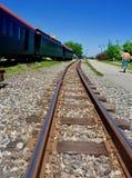 Binari ferroviari della vecchia ferrovia a scartamento ridotto, Portland, Maine, il 28 maggio 2018 Fotografia Stock