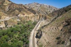 Binari ferroviari di California Fotografia Stock