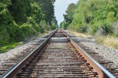 Binari ferroviari di infinito Fotografia Stock Libera da Diritti