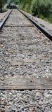 Binari ferroviari infiniti Fotografia Stock Libera da Diritti