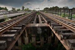 Binari ferroviari paralleli Immagine Stock Libera da Diritti
