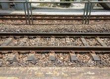 Binari ferroviari per il treno Immagine Stock Libera da Diritti