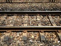 Binari ferroviari per il treno Immagini Stock Libere da Diritti