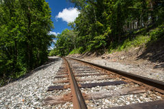 Binari ferroviari rurali Fotografia Stock Libera da Diritti