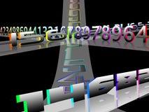 Binario ilustración del vector