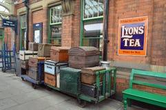 Binario della stazione centrale di Loughborough fotografia stock