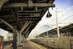 Binario della stazione della ferrovia ad alta velocità di Taiwan (THSR) Fotografia Stock