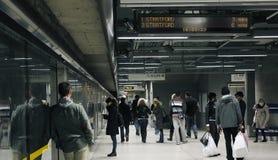 Binario della stazione della metropolitana di Londra Fotografia Stock Libera da Diritti