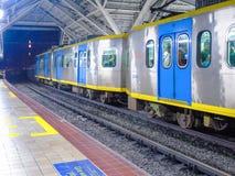 Binario della stazione di Abad Santos LRT1 Immagini Stock Libere da Diritti