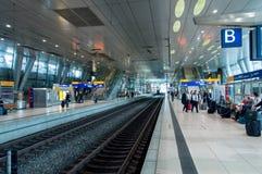 Binario della stazione ferroviaria di Germna Fotografia Stock