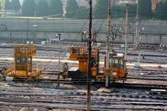 Binario ferroviario Fotos de archivo libres de regalías